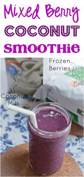 Mixed Berry Coconut Smoothie Recipe