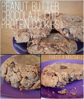 Peanut Butter Chocolate Chip Protein Cookies Recipe