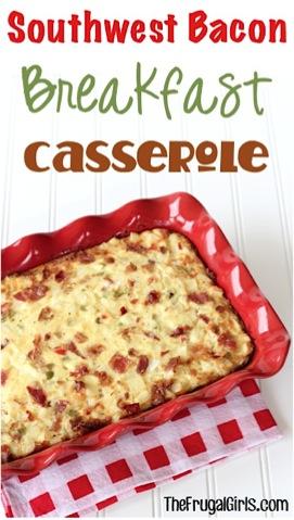 Southwest Bacon Breakfast Casserole Recipe