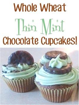 Whole Wheat Thin Mint Chocolate Cupcakes Recipe