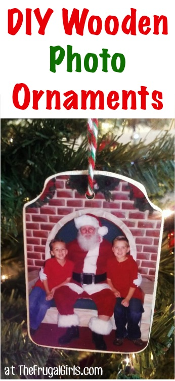 Easy Christmas Photo Ornaments from TheFrugalGirls.com