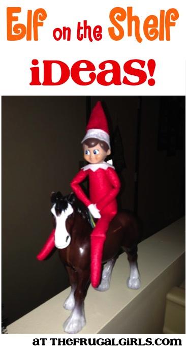 Elf on the Shelf Ideas at TheFrugalGirls.com
