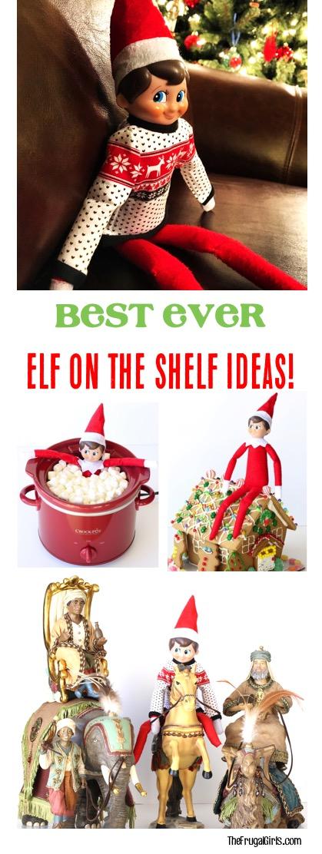 Funny Elf on the Shelf Ideas from TheFrugalGirls.com