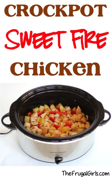 Crockpot Sweet Fire Chicken Recipe at TheFrugalGirls.com
