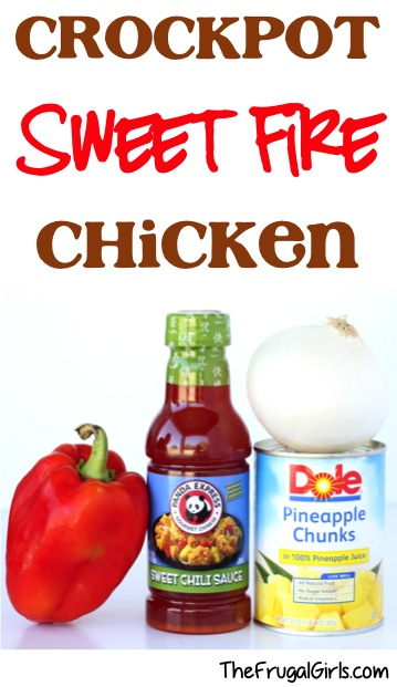 Crockpot Sweet Fire Chicken Recipe from TheFrugalGirls.com