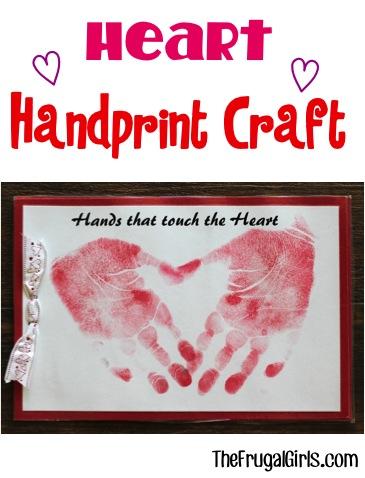 Heart Handprint Craft for Kids at TheFrugalGirls.com