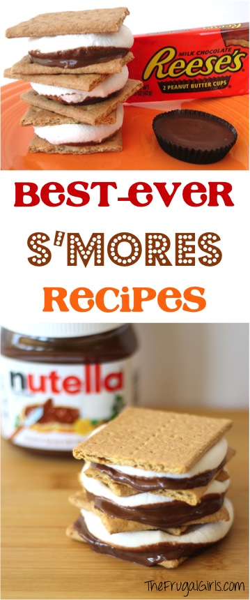 Camping S'Mores Recipes from TheFrugalGirls.com