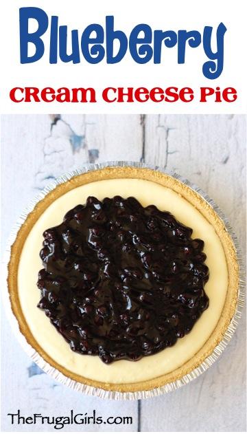 Blueberry Cream Cheese Pie Recipe from TheFrugalGirls.com
