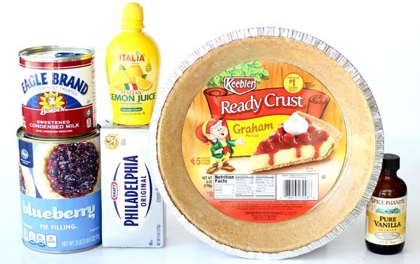 Blueberry Cream Cheese Pie with Graham Cracker Crust