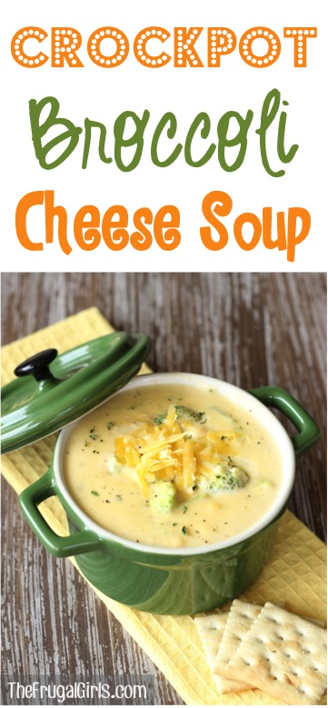 Crockpot Broccoli Cheese Soup Recipe from TheFrugalGirls.com