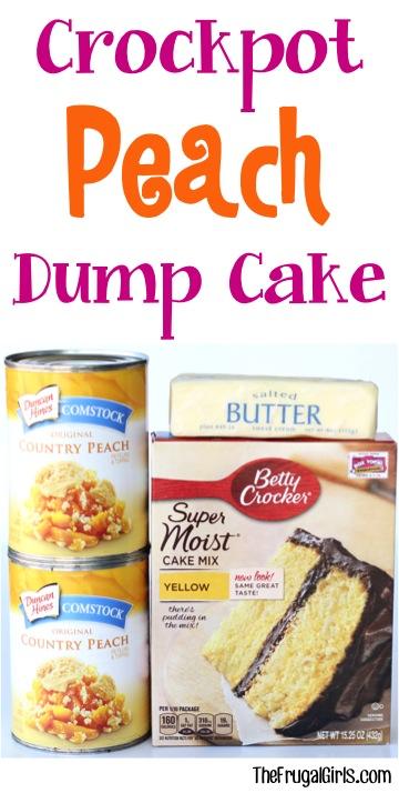 Crockpot Peach Dump Cake Recipe - from TheFrugalGirls.com