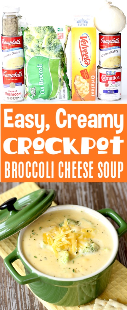 Crockpot Soup Recipes Easy Broccoli Cheese Soup Recipe