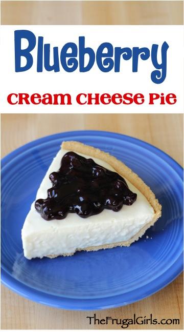 Easy Blueberry Cream Cheese Pie Recipe at TheFrugalGirls.com