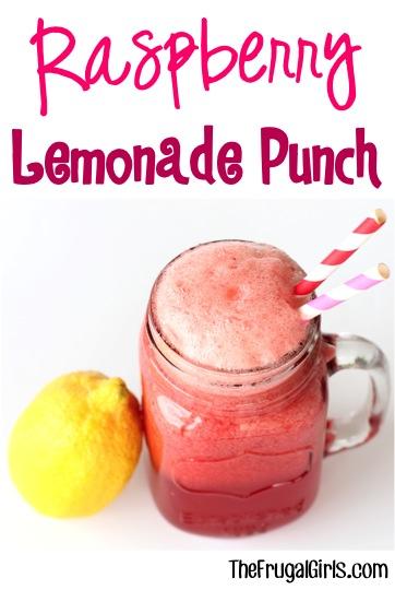 Raspberry Lemonade Punch Recipe from TheFrugalGirls.com