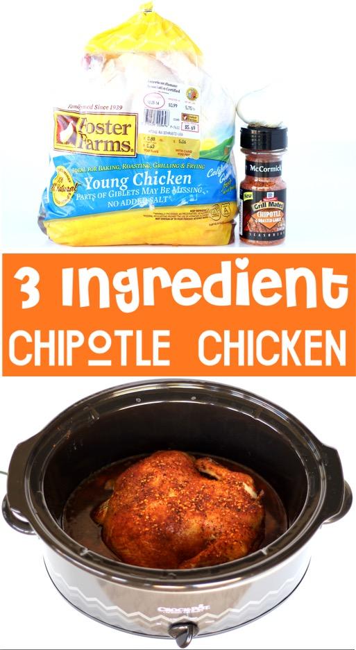 Chipotle Chicken Recipe - Easy Crockpot Dinner
