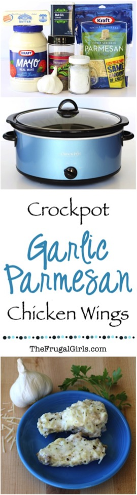 Crock Pot Garlic Parmesan Chicken Wings Recipe