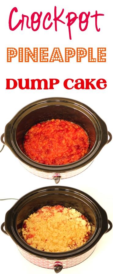 Crockpot Pineapple Dump Cake Recipe from TheFrugalGirls.com