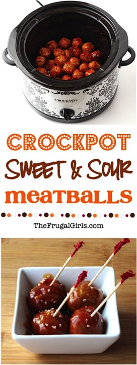 Crockpot Sweet and Sour Meatballs