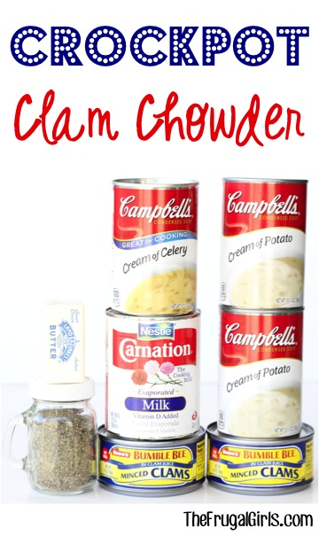 Slow Cooker Clam Chowder Recipe from TheFrugalGirls.com