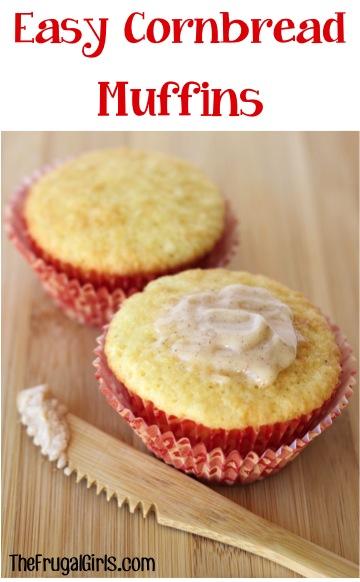 Easy Cornbread Muffin Recipe from TheFrugalGirls.com