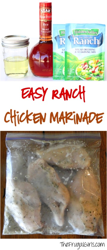 Easy Ranch Chicken Marinade Recipe from TheFrugalGirls.com
