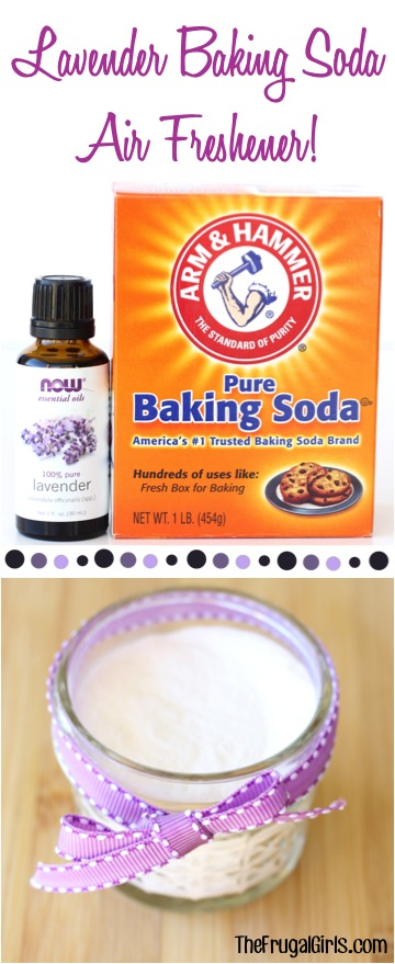 Lavender Baking Soda Air Freshener - from TheFrugalGirls.com