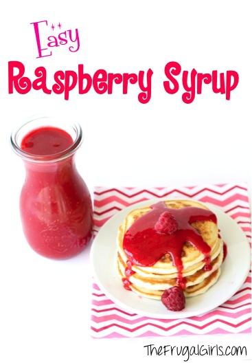Raspberry Syrup Recipe at TheFrugalGirls.com