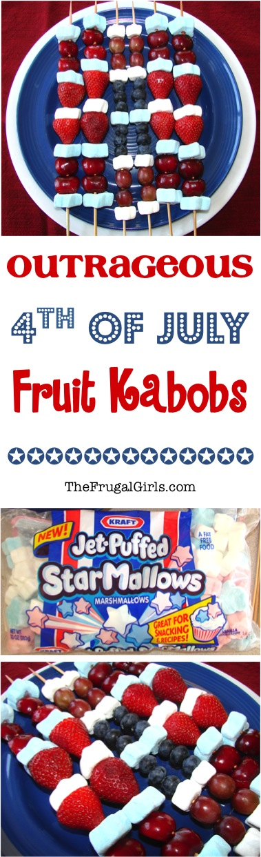 4th of July Fruit Kabobs Recipe from TheFrugalGirls.com