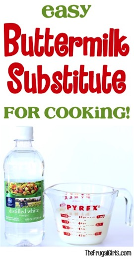 Buttermilk Substitute for Cooking at TheFrugalGirls.com