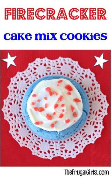 Firecracker Cake Mix Cookie Recipe from TheFrugalGirls.com