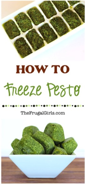 How to Freeze Pesto from TheFrugalGirls.com