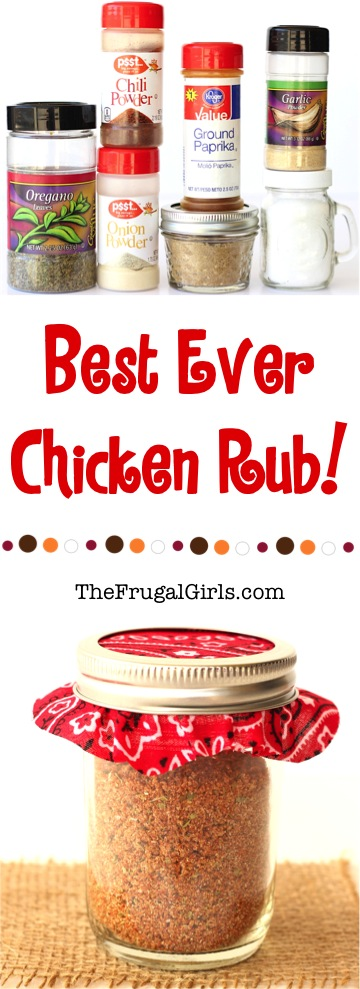 Best Chicken Dry Rub Recipe from TheFrugalGirls.com