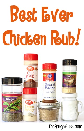 Best Chicken Rub Recipe from TheFrugalGirls.com