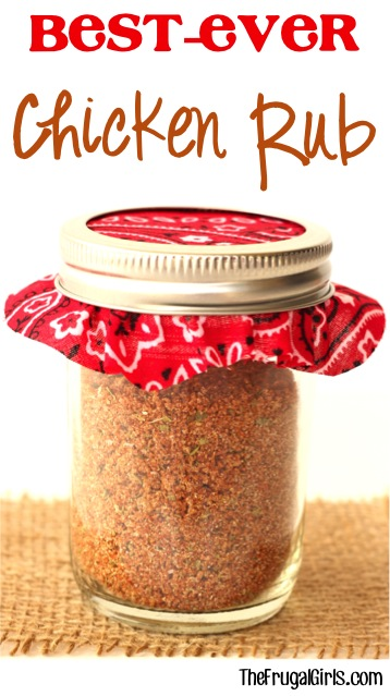 Best Ever Chicken Dry Rub Recipe from TheFrugalGirls.com