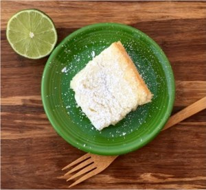 Key Lime Angel Food Cake Bars at TheFrugalGirls.com