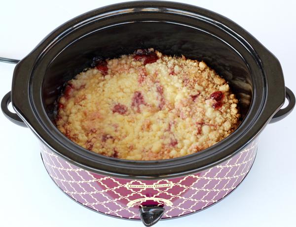 Slow Cooker Cherry Dump Cake Recipe | TheFrugalGirls.com