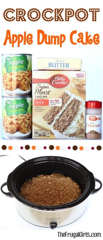Crock Pot Dump Cake Apple Spice Recipe from TheFrugalGirls.com