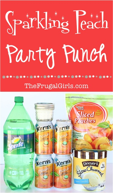 Peach Party Punch Recipe - from TheFrugalGirls.com