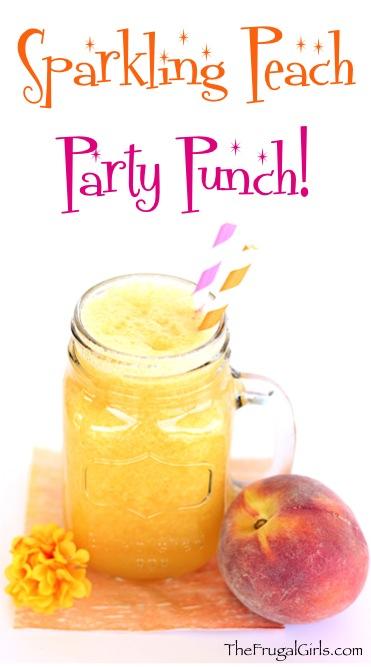 Peach Punch Recipe from TheFrugalGirls.com