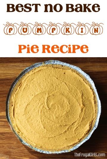 Best No Bake Pumpkin Pie Recipe at TheFrugalGirls.com