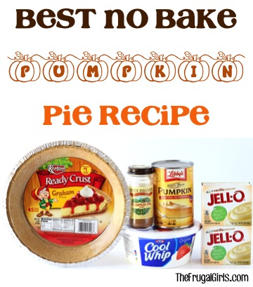 Best No Bake Pumpkin Pie Recipe - at TheFrugalGirls.com