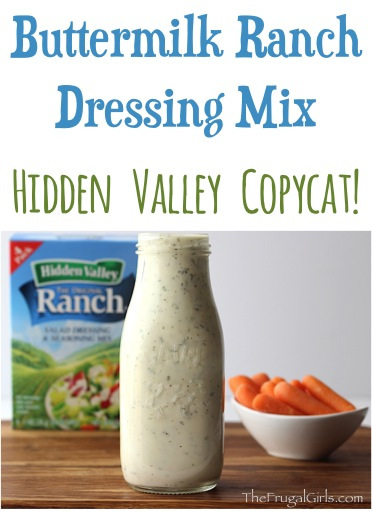 Buttermilk Ranch Dressing Mix Recipe - from TheFrugalGirls.com