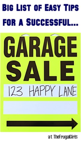 Easy Garage Sale Tips for Success at TheFrugalGirls.com