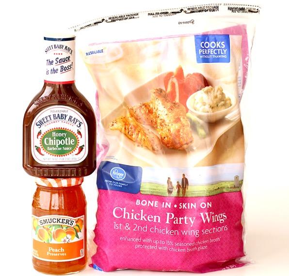 Crock Pot Peach Chipotle Chicken Wings Recipe