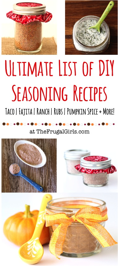 DIY Seasoning Recipes from TheFrugalGirls.com