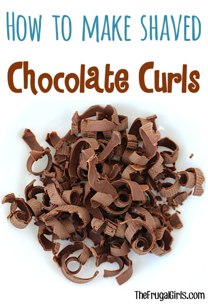 How to make Shaved Chocolate Curls Easy Baking Hack
