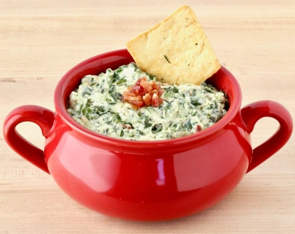 Bacon Crock Pot Spinach Dip