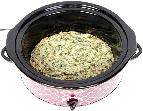 Crockpot Spinach Dip Recipe with Bacon