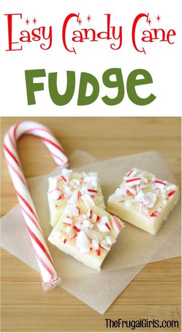 Easy Candy Cane Fudge Recipe at TheFrugalGirls.com