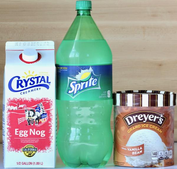 Eggnog Punch Recipe with Vanilla Ice Cream